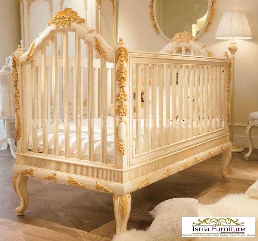 Tempat tidur Bayi Mewah Ukiran
