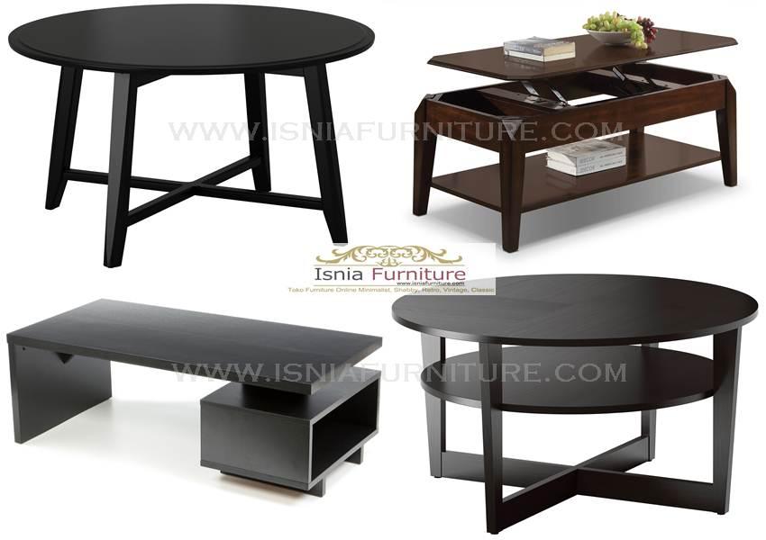 Coffe Table Minimalist Modern Murah Kayu Jati