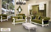Model Kursi Tamu Sofa Mewah Green