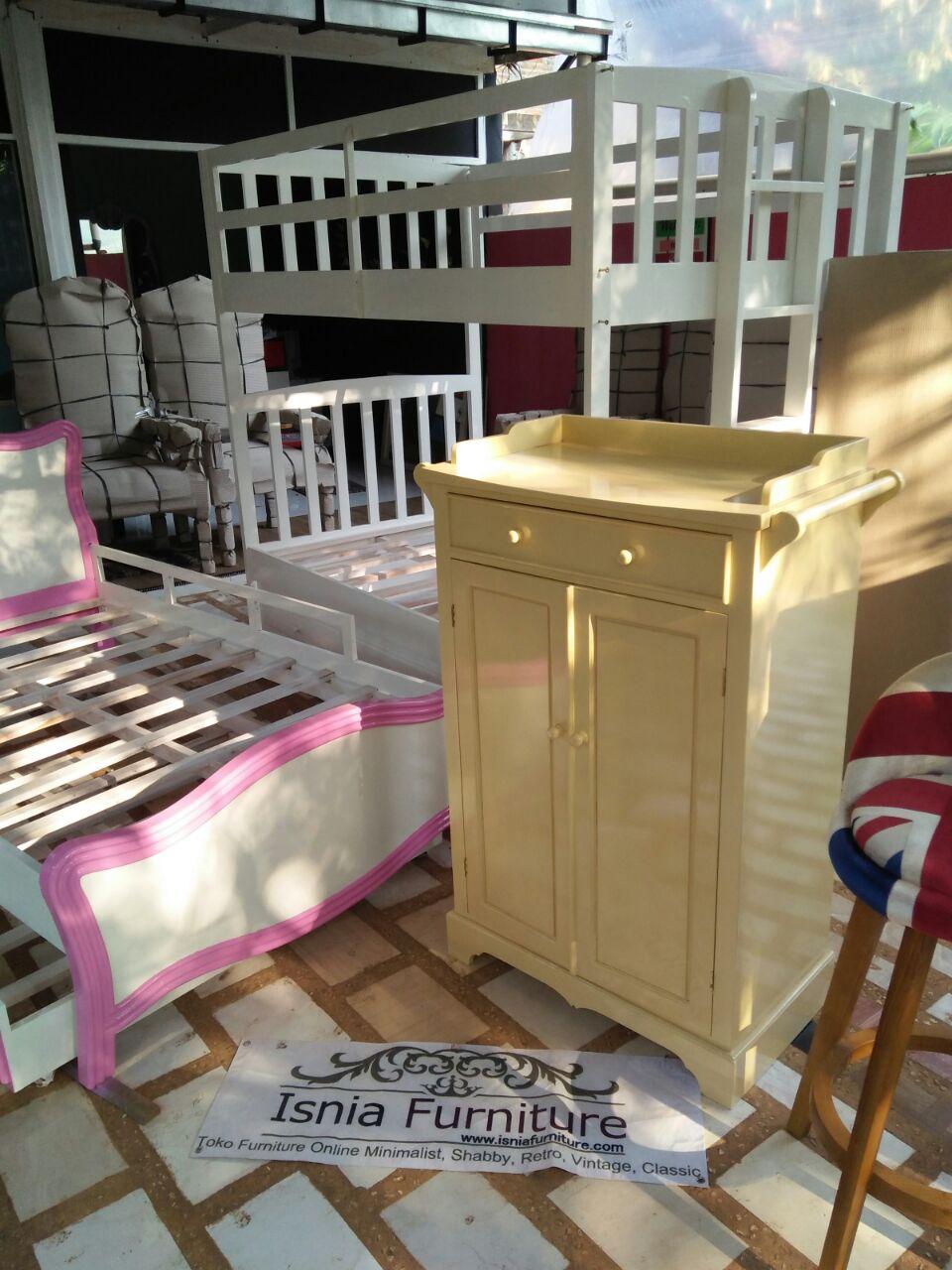 Baby Dresser Minimalis Kayu Mahoni