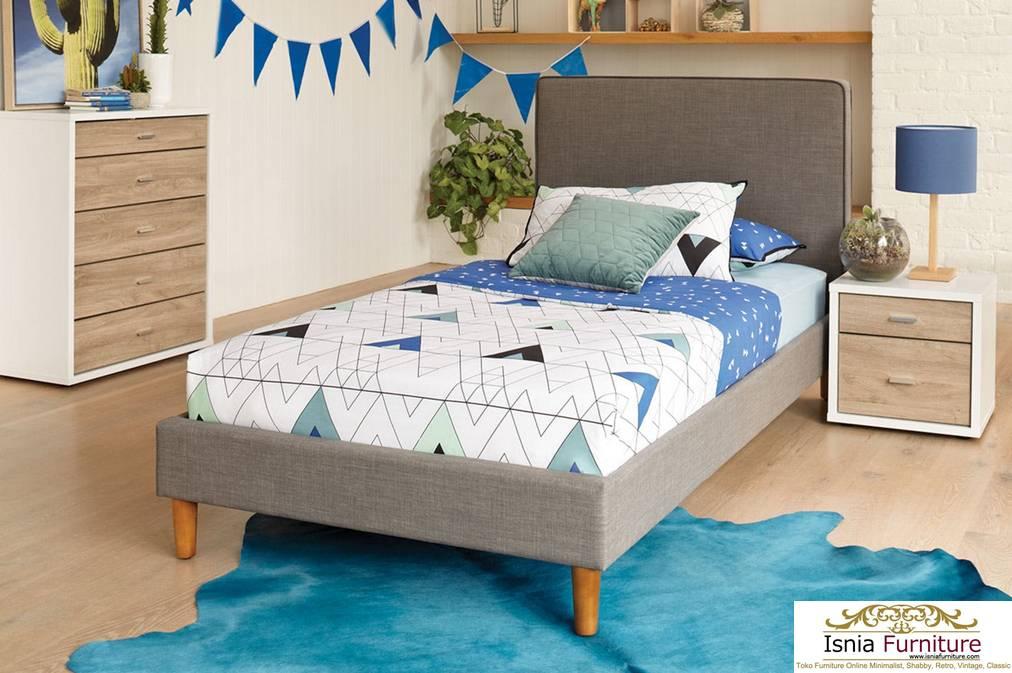 Tempat Tidur Minimalis Desain Termodern Kayu Solid