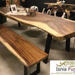 meja makan unik kayu trembesi