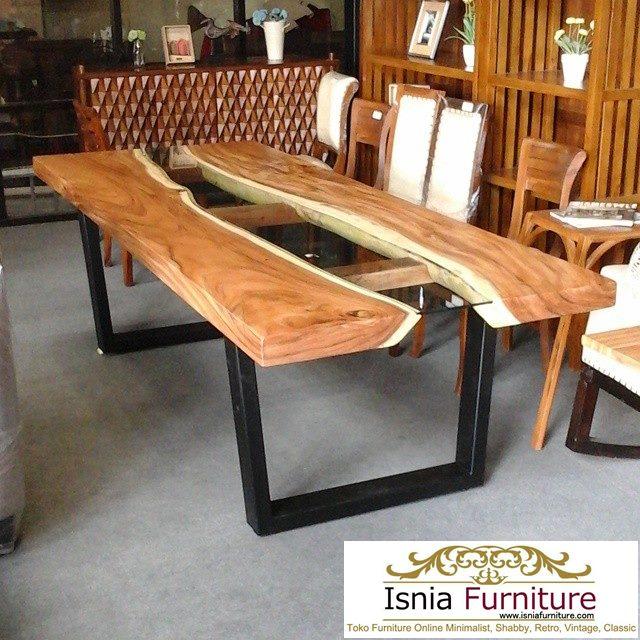 meja unik kayu trembesi