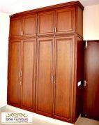 Lemari Pakaian Kayu Jati Apartemen Full 4 Pintu