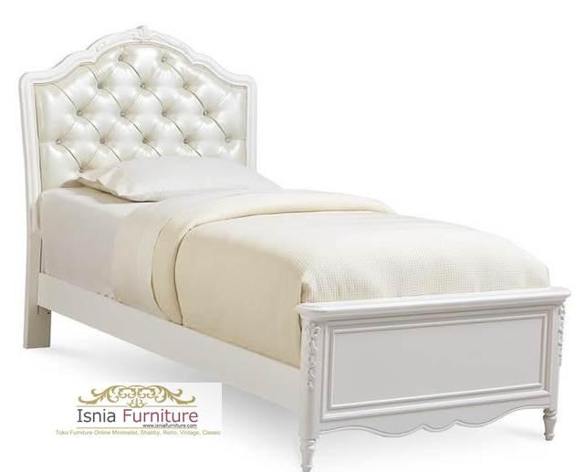 Tempat Tidur Minimalis Surakarta Head Board Busa Putih