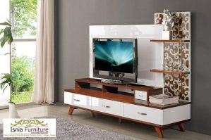 Meja Tv Bandung Set Minimalis Plus Rak