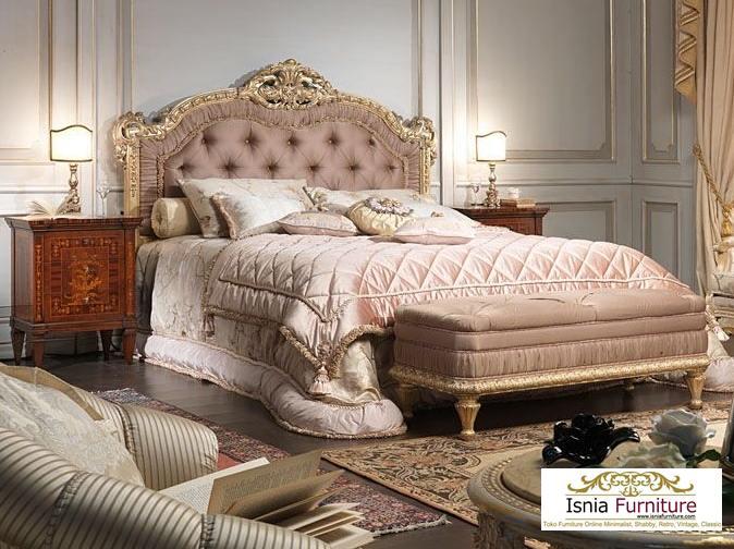 12+ Tempat Tidur Klasik Mewah Ukiran Model Terbaru