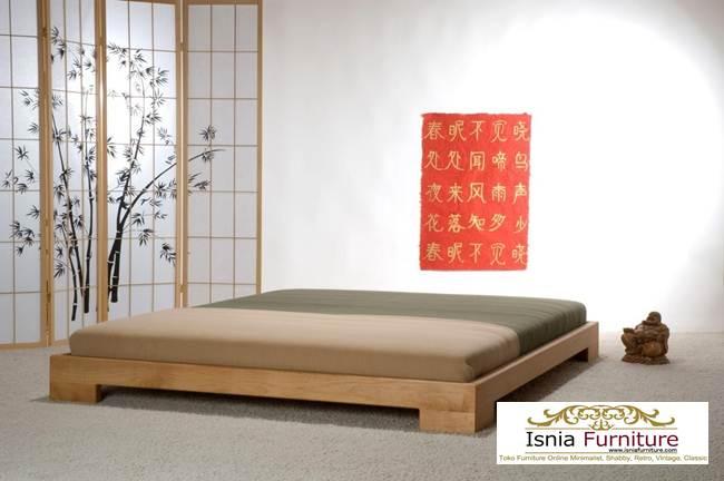 Tempat Tidur Kayu Jati Model Minimalis Cina