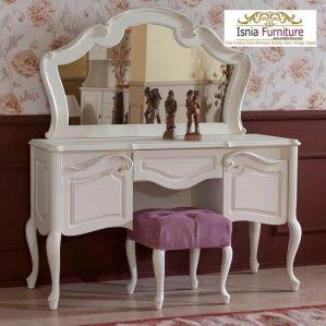 Set Meja Rias Klasik Putih Terbaru