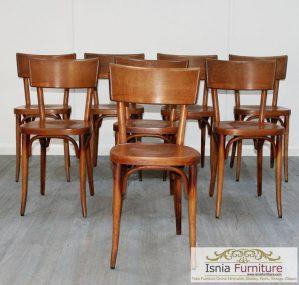 Kursi Cafe Jakarta Kayu Jati Minimalis Natural Terbaru