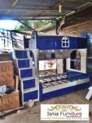 Tempat Tidur Anak Tingkat Blue White