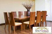 Set Kursi Makan Jati Solid Dengan Meja Makan Mewah