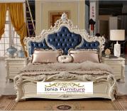 Tempat Tidur Racoco Ukir Mewah Style Italia Terbaru