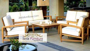 Set Sofa Ruang Tamu Teras Minimalis Kayu Jati Murah