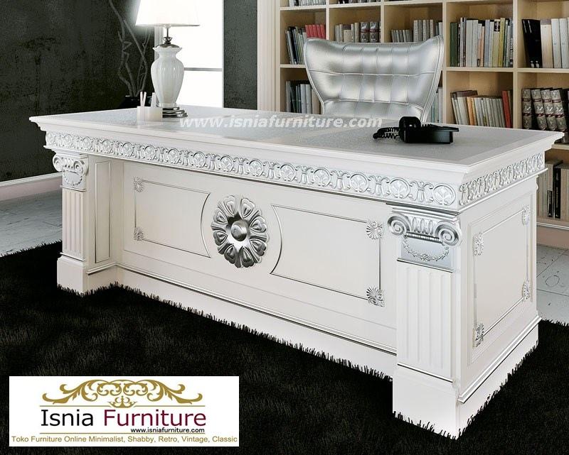 Jual Meja Kantor Semarang Mewah Elegan Duco Klasik Putih