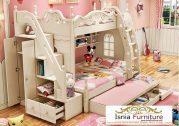 Ranjang Tidur Tingkat Duco White Untuk Anak Fungsi Ganda