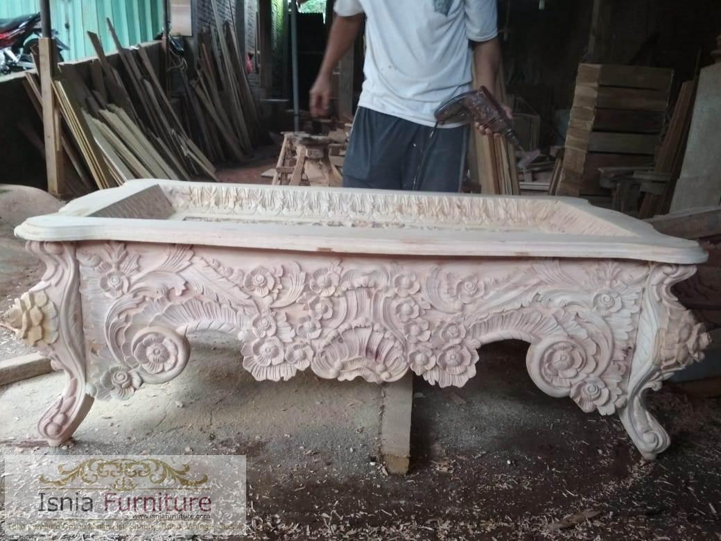 Model Kursi Tamu Sofa Mewah Ukiran Jati Bandung Terbaru