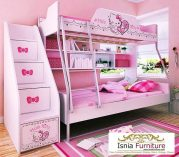 Jual Tempat Tidur Tingkat Anak Perempuan Tema Hello Kitty