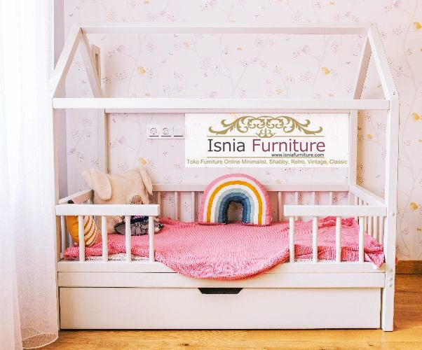 Jual Box Bayi Unik Kota Bogor Desain Bentuk Rumah Duco Putih