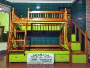 Tempat Tidur Tingkat Kayu Desain Minimalis Modern Untuk Anak