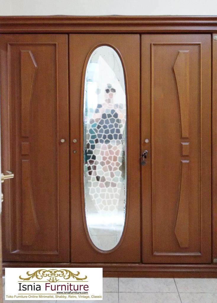 Jual Lemari 3 Pintu Bahan Kayu Jati Desain Minimalis