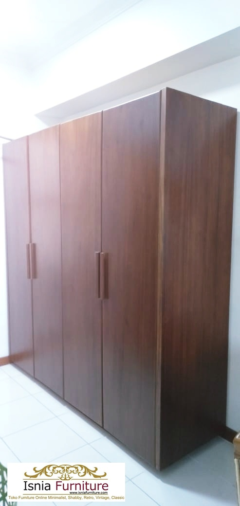 Jual Lemari Pakaian Jati Minimalis 4 Pintu Harga Murah