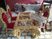 Set Meja Makan Mewah Luxury Eropa Ukiran Royale Jepara