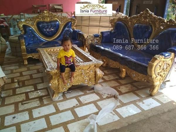 Set Kursi Sofa Ruang Tamu Ukiran Mewah Kayu Solid Harga Murah