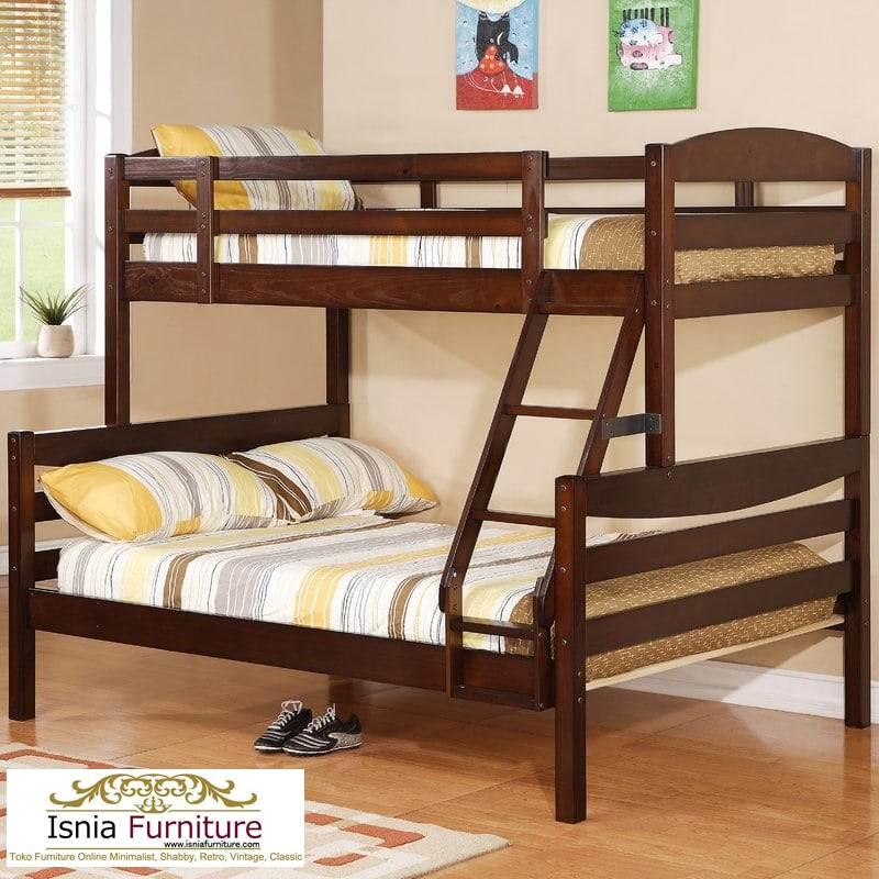 Model Tempat Tidur Susun Kayu Jati Minimalis Untuk Anak