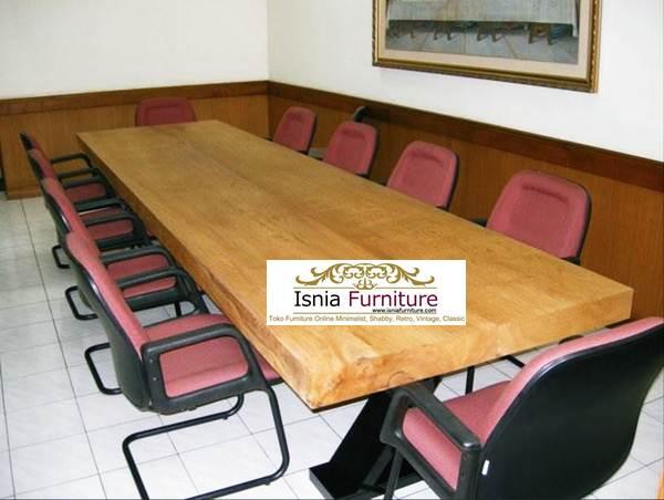 Meja Rapat Atau Meeting Kayu Jati Solid Terbaik di Kelasnya