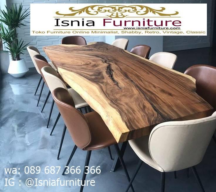 Meja Kayu Besar Papan Trembesi Solid Untuk Ruang Makan