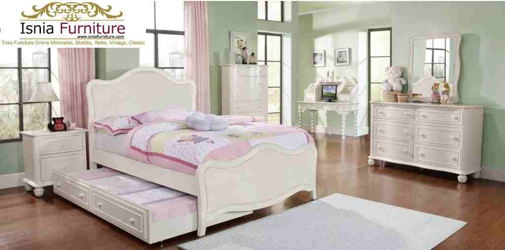 Jual Set Kamar Tidur Minimalis Anak Susun Dengan Laci