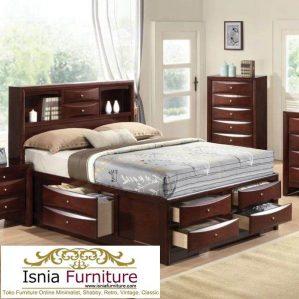 Tempat Tidur Kombinasi Laci Model Minimalis Semarang