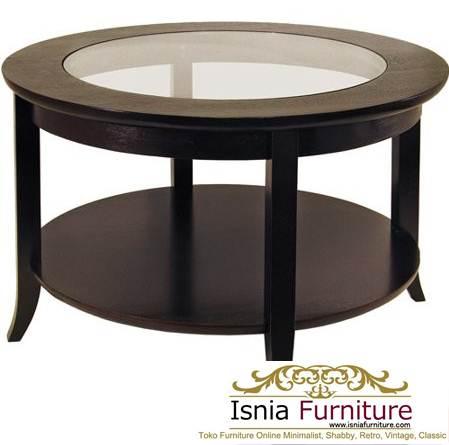 Meja Coffee Table Bogor Bulat Minimalis