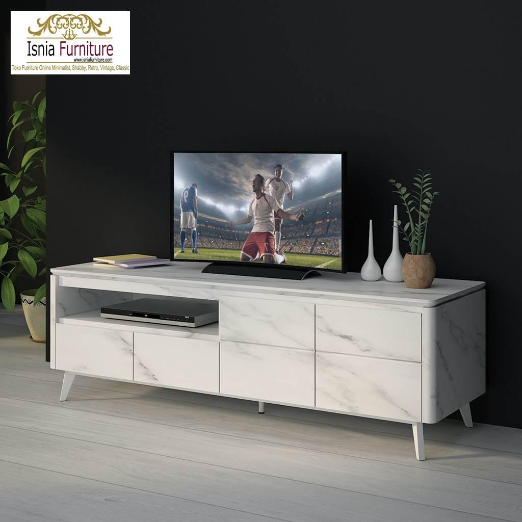meja tv marmer desain minimalis
