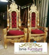 Kursi Raja Dan Ratu Desain Ukir Mewah