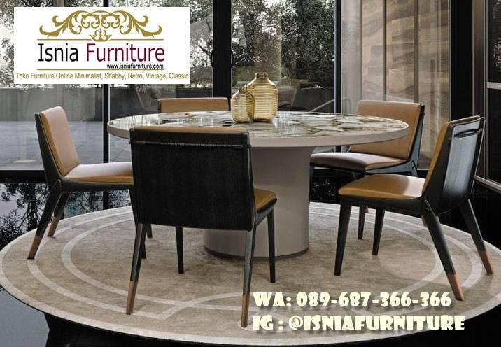Meja Marmer Bulat Besar Untuk Meja Makan Mewah