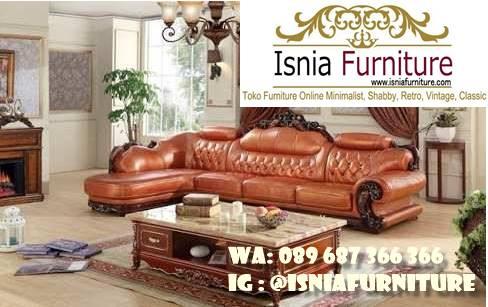 Sofa L Mewah Luxury Klasik Murah Kualitas Terbaik