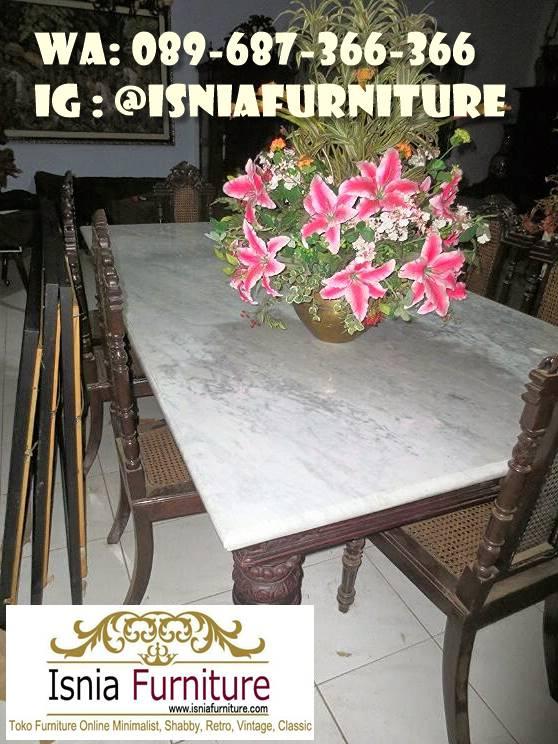 Meja Makan Marmer Antik Minimalis Terbaik