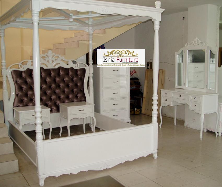 kamar set klasik kanopi white