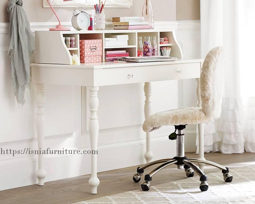 meja belajar minimalis modern cantik