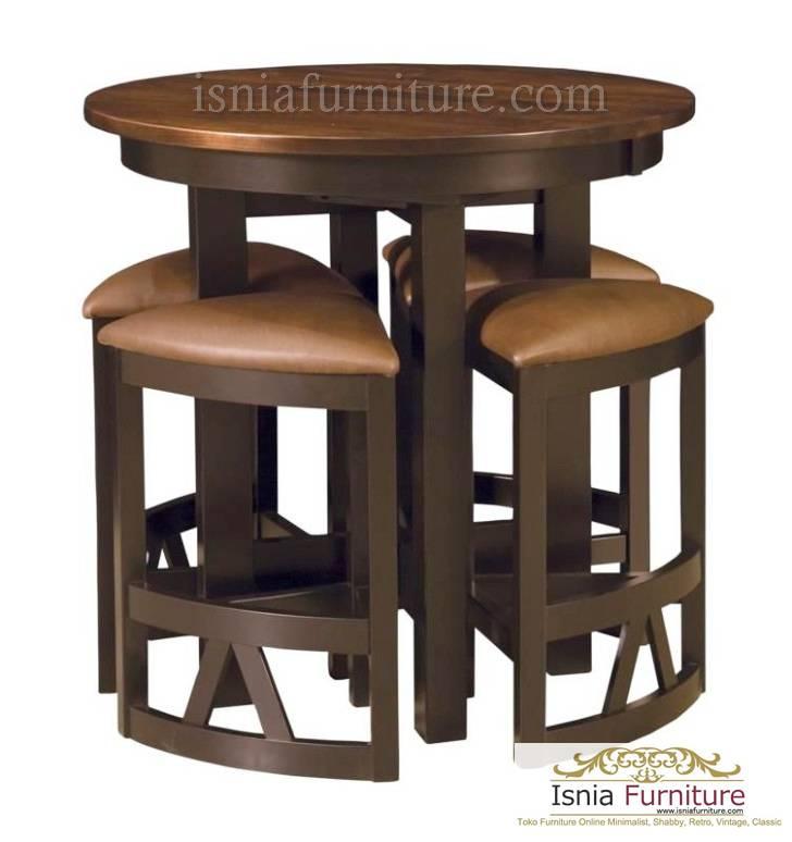set meja bar bulat vintage populer
