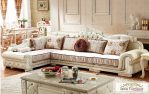 Sofa Tamu Sudut Mewah Model Eropa