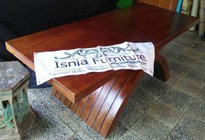 Cross-feeding Table Teak Wood