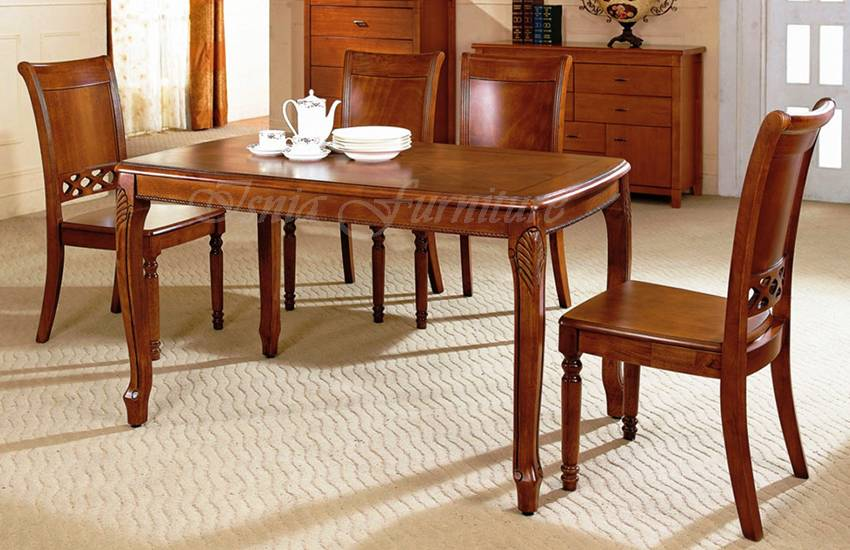 model meja makan kayu cantik