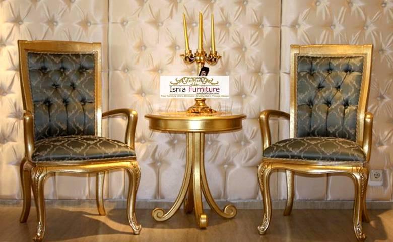 kursi teras sofa gold jok motif