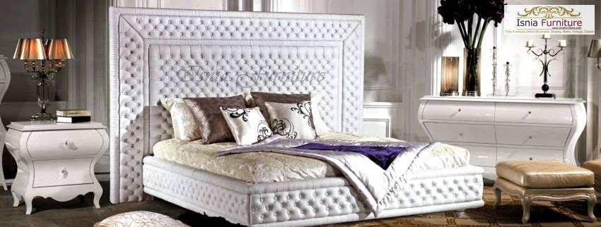 model kamar set mewah jok putih