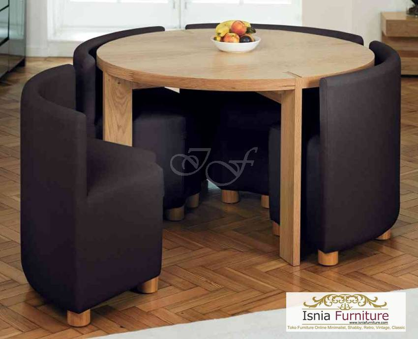 model meja makan minimalis bulat unik