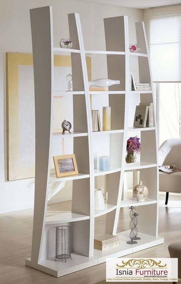 model rak buku unik terbaru putih