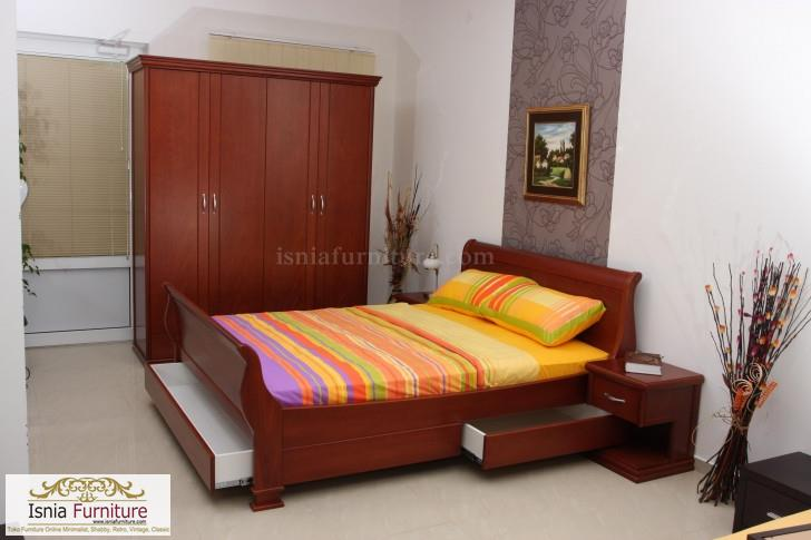 furniture kamar set minimalis jati